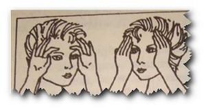 Упражнения для уменьшения морщин на лбу и улучшения кровообращения кожного покрова головы
