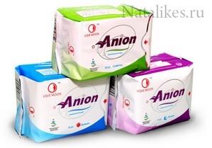 Анионовые гигиенические прокладки