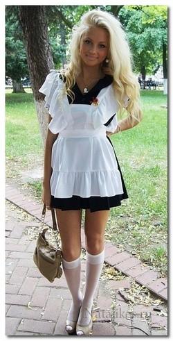 Школьное советско платье