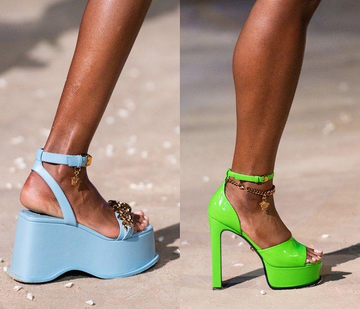 Вечерние женские туфли на высоком каблуке весна лето 2021