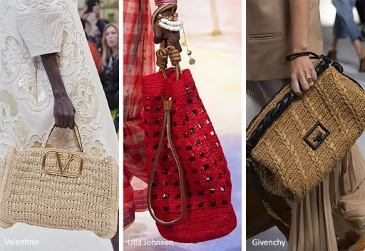 Модные сумки весенние: плетем узоры