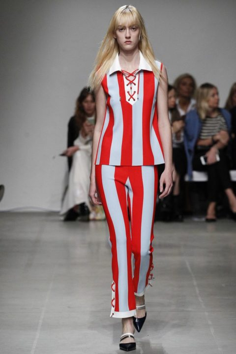 Модная полоска в дизайнерских коллекциях