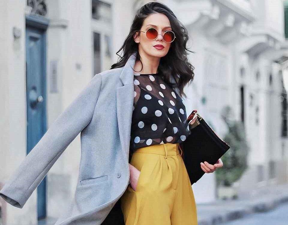 Блуза в горошек – актуальный тренд этого года