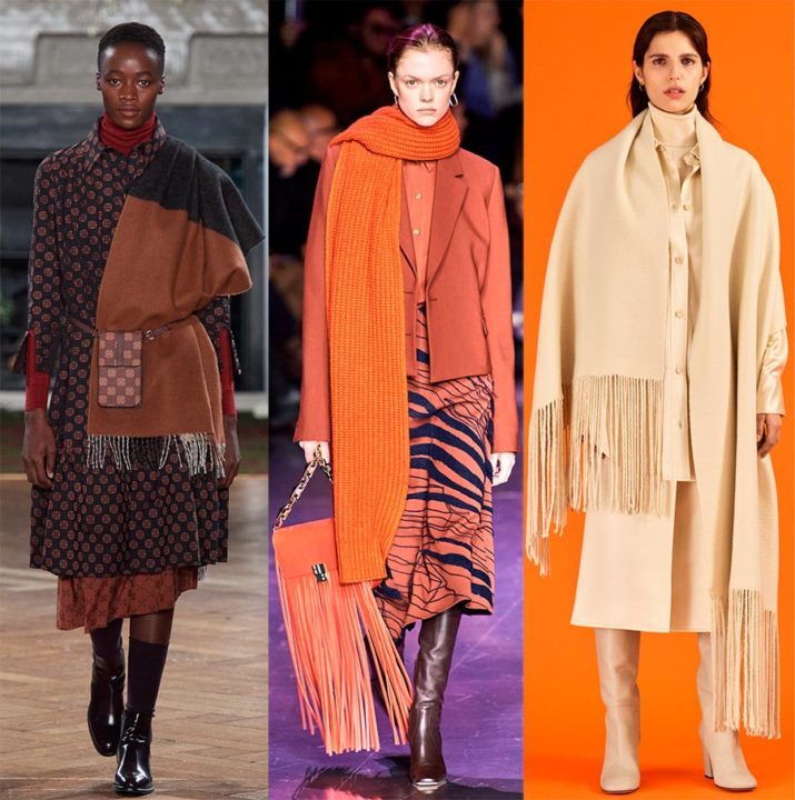 Как выбрать модный шарф  в 2021 году – правила цвета