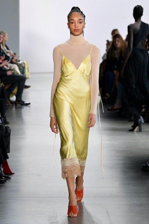 Платье комбинация — модный тренд 2021