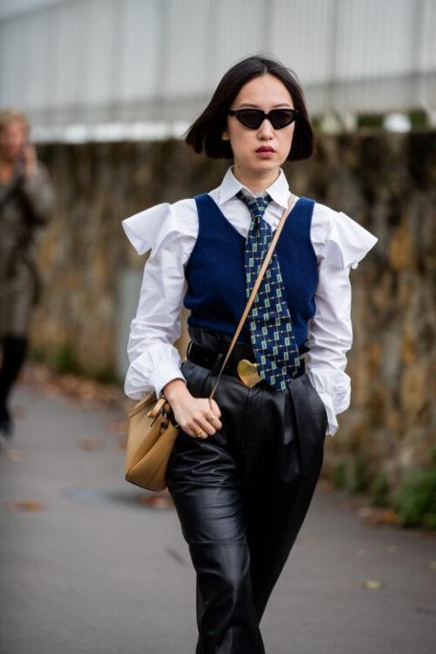 Модные галстуки 2021 для женщин